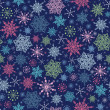Royalty-Free Stock Vector Image: Holiday Snowflakes At Night Seamless Background