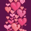 Royalty-Free Stock Vector Image: Valentine&#039;s Day Hearts Vertical Seamless Pattern Border