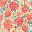Royalty-Free Stock Vector Image: Bright Garden Flowers Seamless Pattern