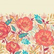 Royalty-Free Stock Vector Image: Bright Garden Flowers Horizontal Seamless Pattern Border