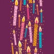 Royalty-Free Stock Vector Image: Colorful birthday candles vertical seamless pattern border