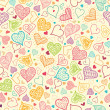 Royalty-Free Stock Vector Image: Doodle Hearts Seamless Pattern Background