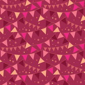 Christmas Decorations Flags Seamless Pattern Background — Vettoriale Stock