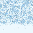 Snowflake Texture Horizontal Seamless Pattern Border — Stock Vector