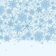 Snowflake Texture Horizontal Seamless Pattern Border — Stock Vector #15430585