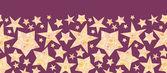 Texturerat jul stjärnor i horisontella sömlös blommönster — Stockvektor