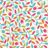 Colorful Branches Seamless Pattern Background — Stock Vector