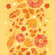 Royalty-Free Stock Vector Image: Fire flowers vertical seamless pattern background border