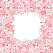 Royalty-Free Stock 矢量图片: Valentine's Day Frame With Hearts Seamless Pattern