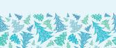 Floco de neve texturizado natal árvores borda horizontal sem emenda — Vetorial Stock