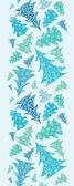 雪花纹理圣诞树木垂直无缝边框 — 图库矢量图片