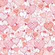 Royalty-Free Stock Vector Image: Valentine&#039;s Day Hearts Seamless Pattern Background