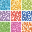Royalty-Free Stock Vector Image: Nine Celebration Seamless Patterns Backgrounds Collection