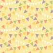Party Decorations Bunting Seamless Pattern Background — Stock Vector