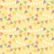 Royalty-Free Stock Vector Image: Party Decorations Bunting Seamless Pattern Background