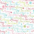 Merry Christmas Text Seamless Pattern Background - Stock Vector
