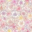 Royalty-Free Stock Vector Image: Subtle field flowers seamless pattern background