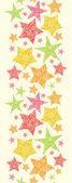 Snowflake Textured Christmas Stars Vertical Seamless Pattern — Stock Vector