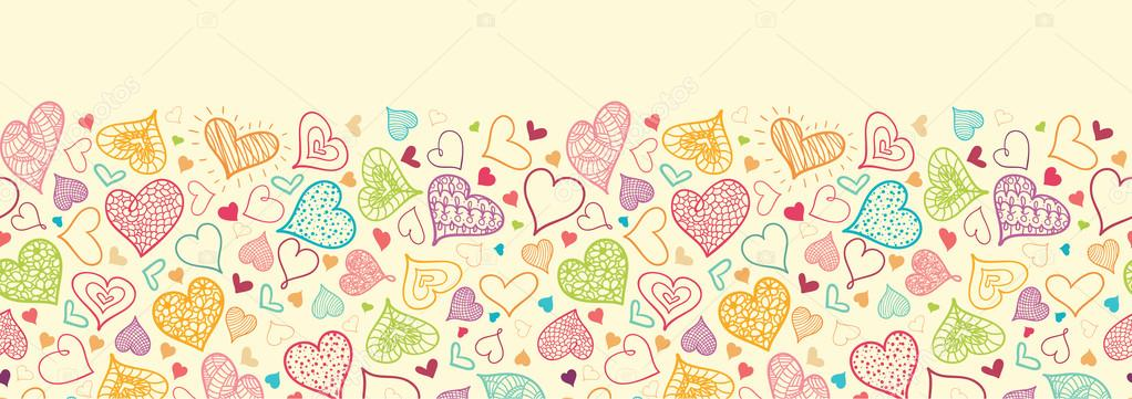 Heart Border Horizontal Hearts horizontal seamlessHeart Border Horizontal