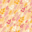 Autumn Filed In the Wind Seamless Pattern background — Stock Vector