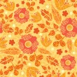 Fire flowers seamless pattern background — Stock Vector #15564321