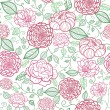 Royalty-Free Stock Vector Image: Floral line art seamless pattern background