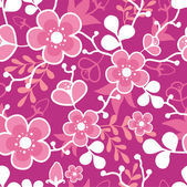 Pink Sakura Kimono Blossom Seamless Pattern Background — Stock Vector