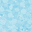 Royalty-Free Stock Векторное изображение: Abstract swirls seamless pattern background