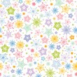 Colorful stars seamless pattern background - Image vectorielle
