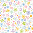 Colorful stars seamless pattern background - Stock Vector
