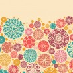 Abstract decorative circles horizontal seamless pattern border — Stock Vector