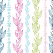 Floral stripes vertical seamless pattern background — ストックベクタ