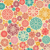 Abstract decorative circles seamless pattern background — Stock Vector