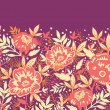 Royalty-Free Stock Imagen vectorial: Golden flowers and leaves horizontal seamless pattern border