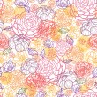 Sweet flowers seamless pattern background - Stock Vector