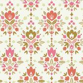 Fondo floral patrón inconsútil damasco — Vector de stock