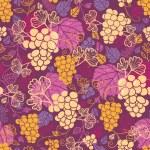 Sweet grape vines seamless pattern background — Stock Vector