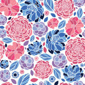 Mosaic flowers seamless pattern background — Stok Vektör