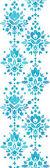 Abstrakt blomma damast vertikala seamless mönster gränsen — Stockvektor