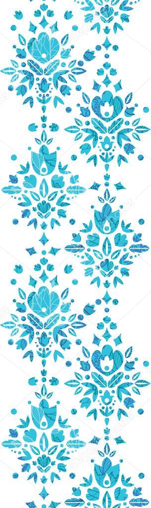 Vertical Flower Pattern Vertical Seamless Pattern
