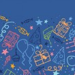 Birthday horizontal seamless pattern background border — Stock Vector #16004835