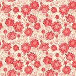 bezešvé pozadí červené květy máku — Stock vektor