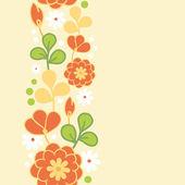 Kimono orange fleurs verticales sans soudure jacquard — Vecteur