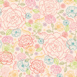 Pink roses seamless pattern background — Stock Vector