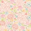 Stock Vector: Pink roses seamless pattern background