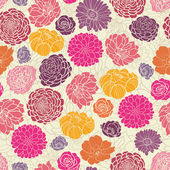 Colorful abstract flowers seamless pattern background — Stock Vector