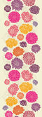 Colorful abstract flowers vertical seamless pattern border — Stockvektor