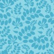 Blue leaves seamless pattern background - 图库矢量图片