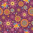Colorful stars seamless pattern background - Stock vektor