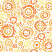 Sunny faces seamless pattern background — Stock Vector